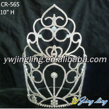 Jingling 10Inch high quality rhinestones Pageant Crown
