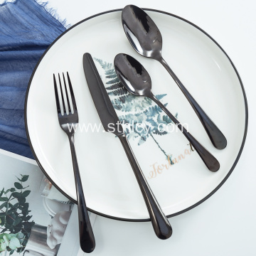 High quality Black Plated Cutlery Flatware Sets