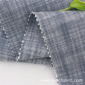 100% Cotton Yarn Dyed Chambray Slub Woven Fabric