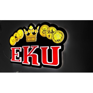 EKU 3D led light sign