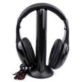 KUBITE MH2001 Wireless Headphones Transmitter on Ear Headset With FM Radio Wireless TV Headset Monitor Earphone for TV PC Smart