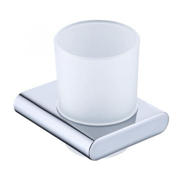 Home Use Bathroom Glass Cup Holder Chrome
