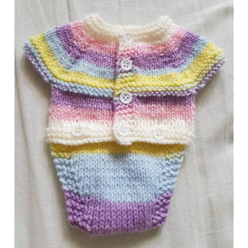Colour knit children's sweater