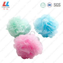 soft round flower mesh bath sponge