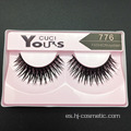 Barato Fake eyeLashes Etiqueta privada Soft Human Hair Flash Pestañas 10 pares