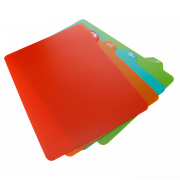 4PCS Flexible Plastic Chopping Board For Vegetable Meat