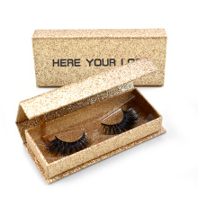 Handmade Golden Glitter Eyelash Box Wholesale