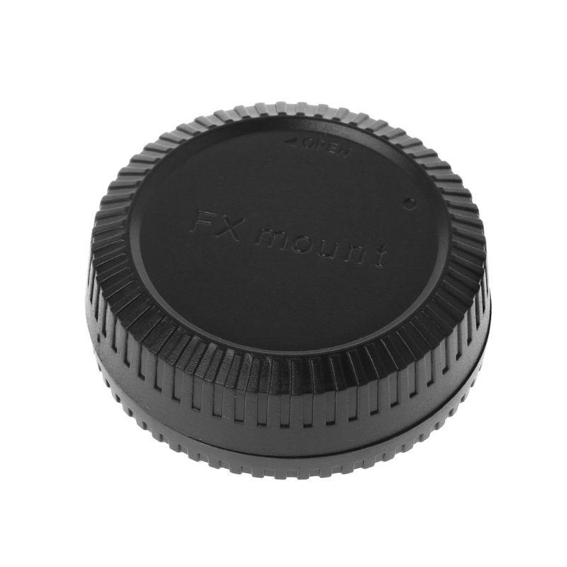 Rear Lens Body Cap Camera Cover Anti-dust Protection Plastic Black for Fuji Fujifilm FX X Mount