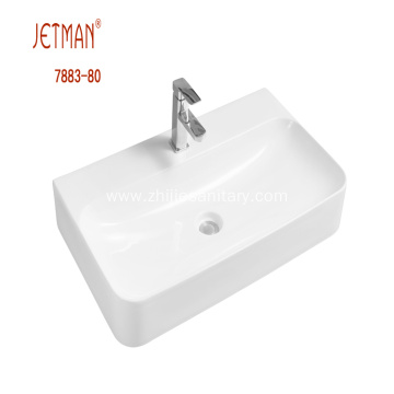 Rectangular Ceramic Countertop Basin