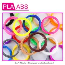 20Pieces/lot 3D Printer Filaments 20 Colors 3D Printing Pen Plastic Threads Wire 1.75 mm Printer Consumables 3D Pen Filament ABS