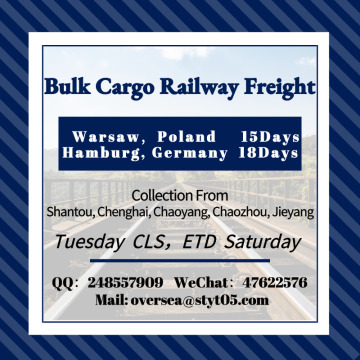 Bulk Cargo Railway Freight To European