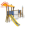 Single Outdoor Playground Equipment Yellow Park For Children