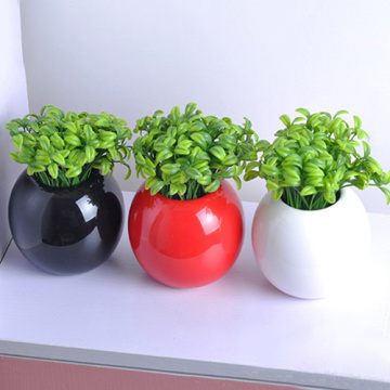10Pcs Artificial Plants Potted Bonsai Green Small Tree Plants Fake Flowers Potted Ornaments for Home Garden Decor Party Hotel