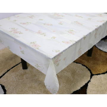 Printed pvc lace tablecloth by roll flannel
