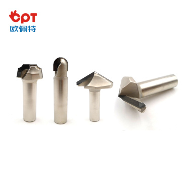 PCD wood miter router bit burning guide bearings