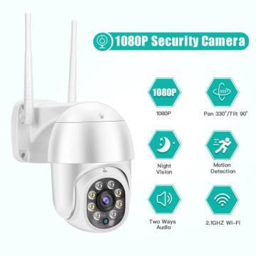 Wifi Outdoor Speed Dome Wireless Wifi Security Camera Pan 1080P PTZ IP Camera Tilt 4X Digital Zoom 2MP Network CCTV Surveillance