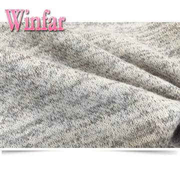 Brushed Polyester Rayon Spandex Jersey Sweater Fabric Hacci
