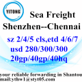 Shenzhen Sea Freight Shipping Services to Chennai