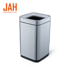 JAH Stainless Steel Big Square Wastepaper Basket Dustbin