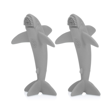Custom 100% All Silicone Shark Massager Toothbrush