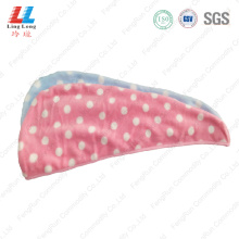 Spots pretty hair dry towel sponge