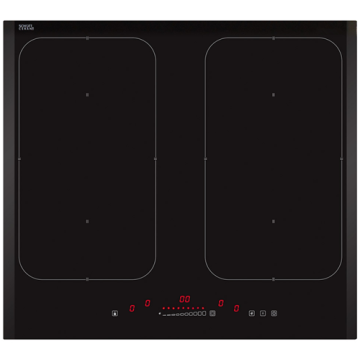 Induction Kitchen Hobs Black Tempered Glass