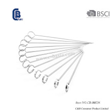12PCS Stainless Steel Kabob Skewers