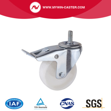 Braked Threaded Stem Swivel PP Industrial Caster