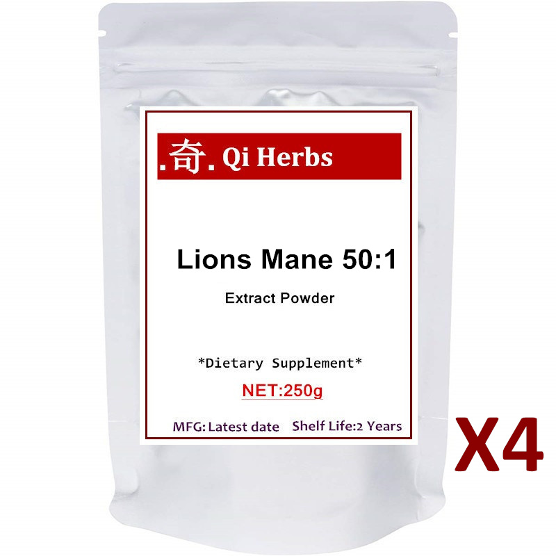Organic Lions Mane Mushroom Powder (50:1 Extract),Strongly Supports Mental Clarity, Focus, Memory,Nervous System and Antioxidant