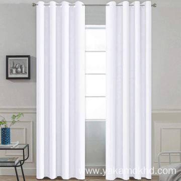 Pure White Blackout Curtains 96 Inch Long