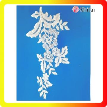 Elegant embroidery flower tulle