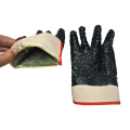 Black PVC Coated Gloves Chips on the palm