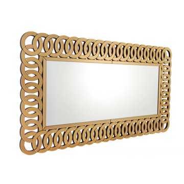Rectangular MDF mirror for home entrance