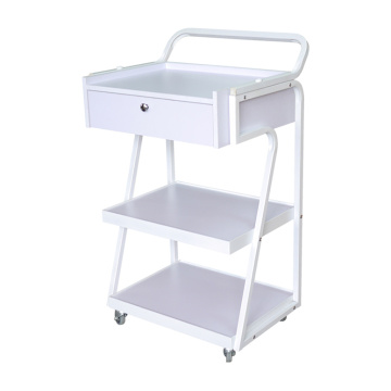 White Beauty Salon Trolley With Drawer