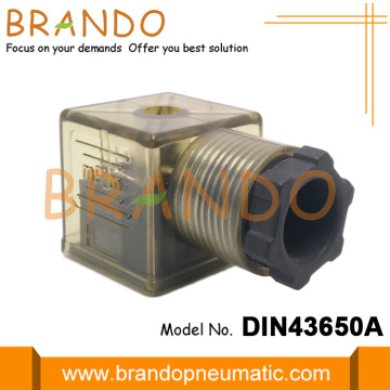 Brown DIN 43650 Form A Solenoid valve Connector