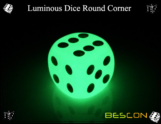Luminous Dice Round Corner
