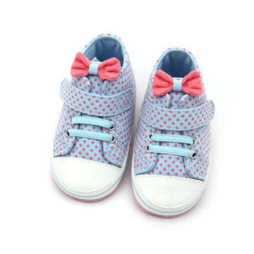 Bow-Knot Wave Point Baby Girls Sports Shoes