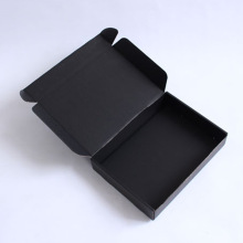 Corrugated cardboard black mailing box