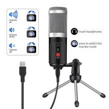 Condenser Microphone computer USB Port Studio Microphone For pc Sound Card Professional Karaoke Microphones DJ Live Recording