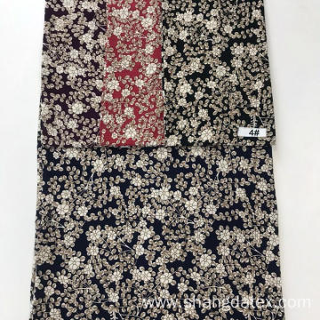 Small Flower Design Rayon Crepe Screen Print Fabric