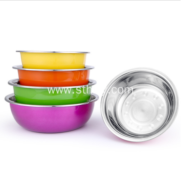 Large Capacity Stainless Steel Soup Basin Five Colours