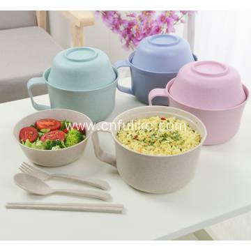 5-Pieces Wheat Straw Dinnerware Set Wholesale