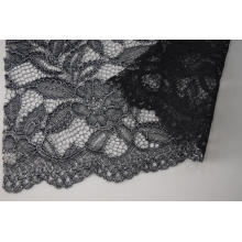 100% Polyester Cord Lace Fabric With Glitter