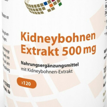 Kidney bean extract 500mg 120 capsules with Phaseolin carbohydrate blocker