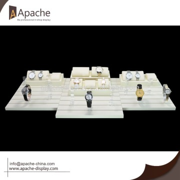 wooden watch counter display base