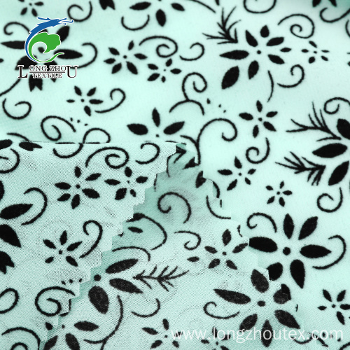 100D Flocked Chiffon Fabric