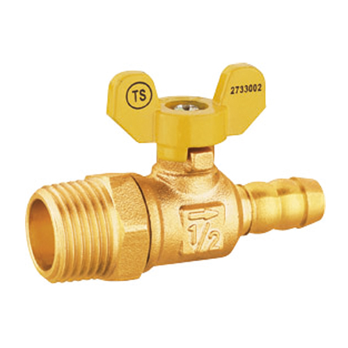 J2039 brass male screw leakproof gas ball valve with mouth
