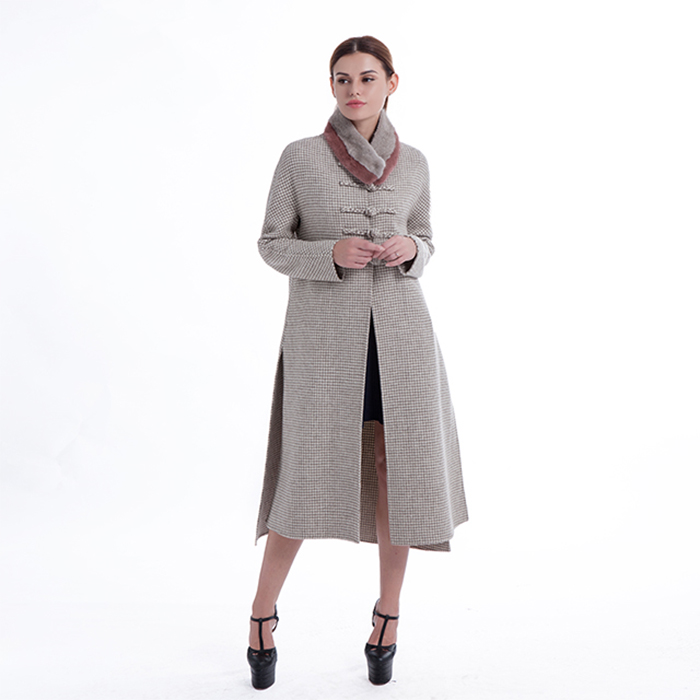 New styles simple cashmere overcoat