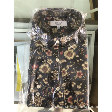 High quality cotton classic print shirt for men