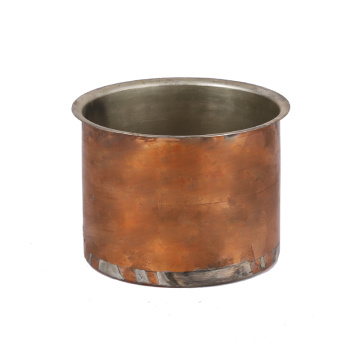 metal spinning round copper can with tin plating